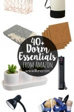 40+ Dorm Essentials from Amazon - skip the department store hopping and get all your college essentials from Amazon! We put together an ultimate collection of dorm necessities - see it on lilluna.com!!