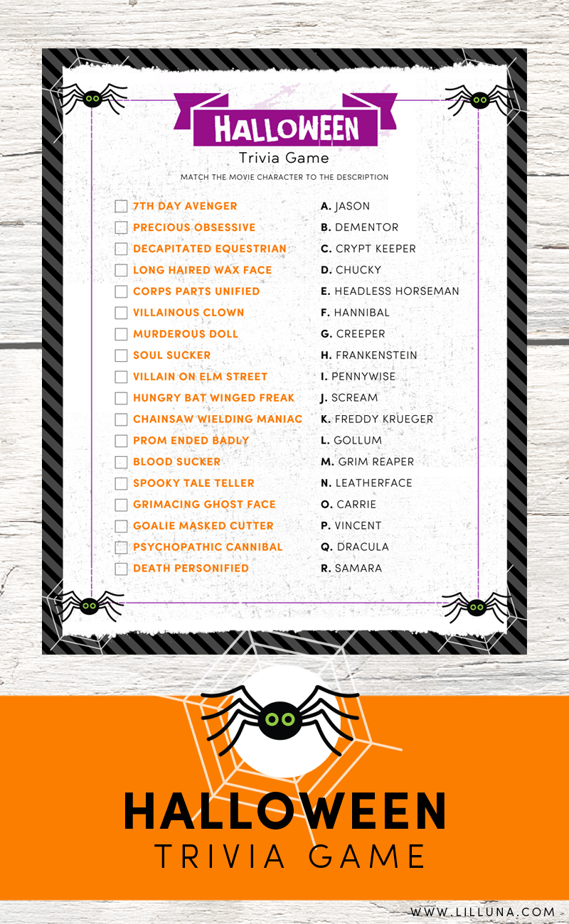 Irresistible image inside horror movie trivia questions and answers printable
