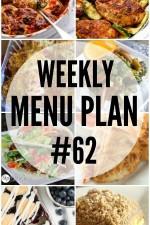 Weekly Menu Plan #62