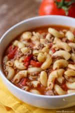 Beef & Tomato Macaroni Soup