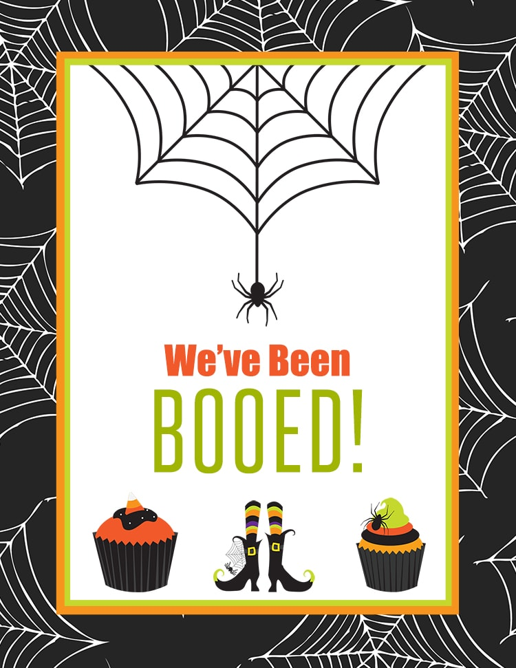 image relating to You've Been Booed Printable Pdf identified as Absolutely free Youve Been Booed Printable - Local Boo