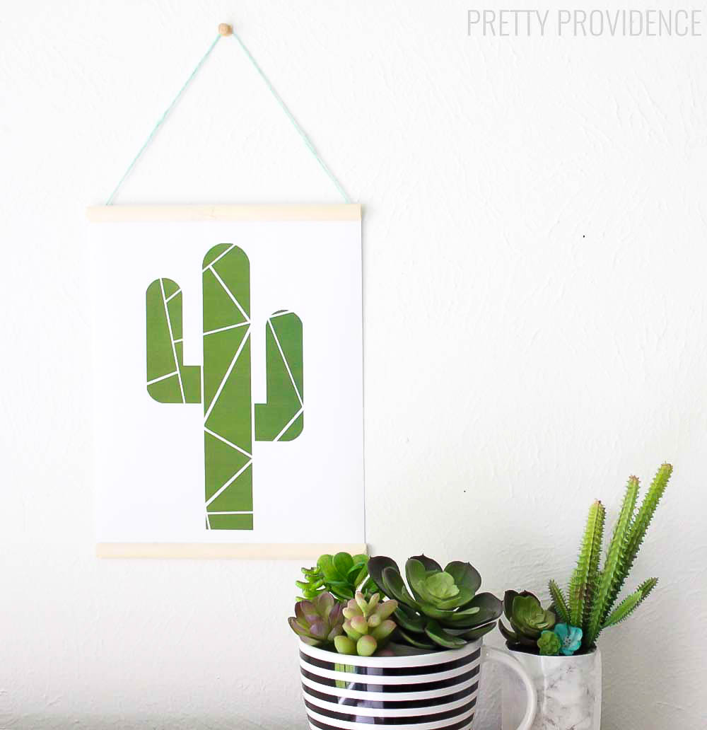 It is an image of Playful Free Cactus Printable