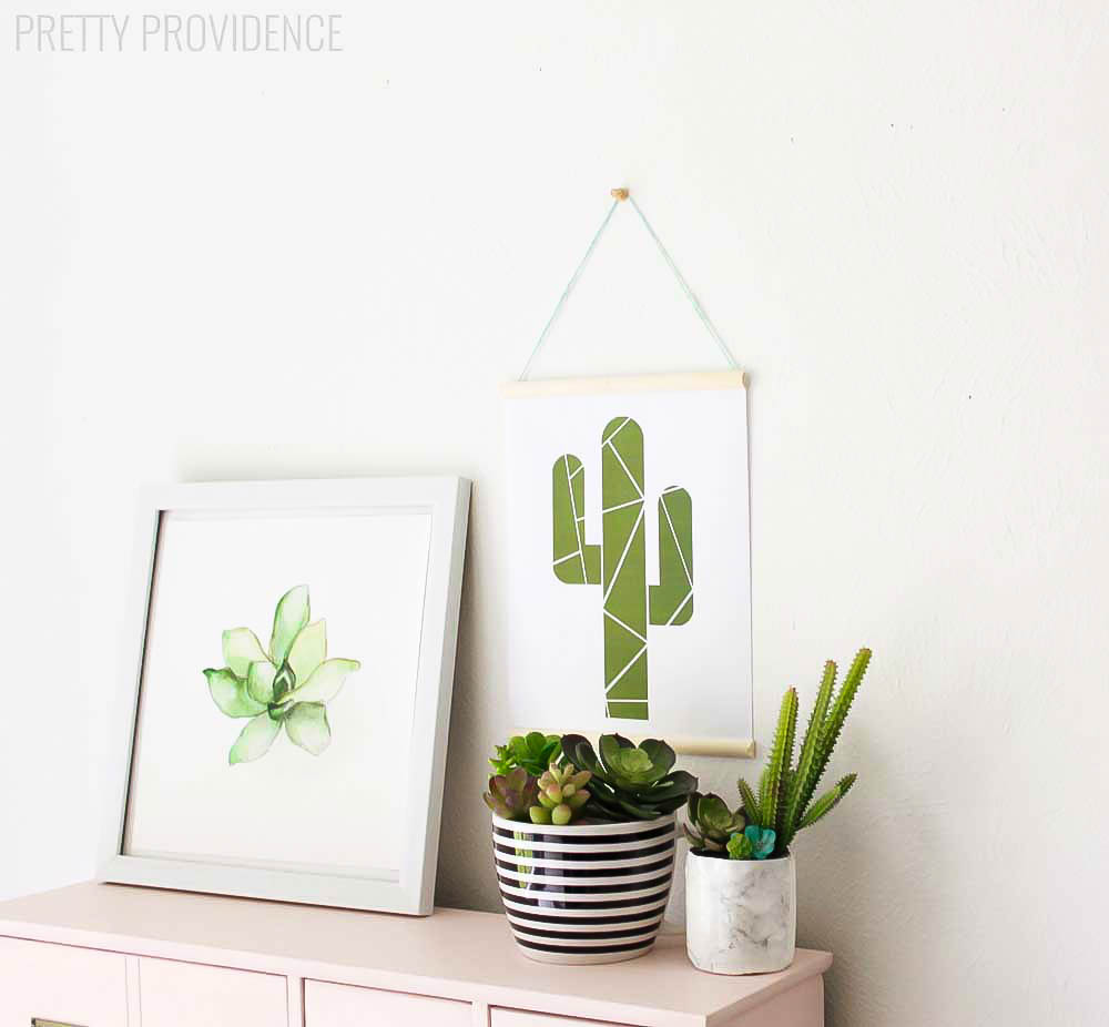 photo regarding Cactus Printable known as Geometric Cactus Printable - Lil Luna