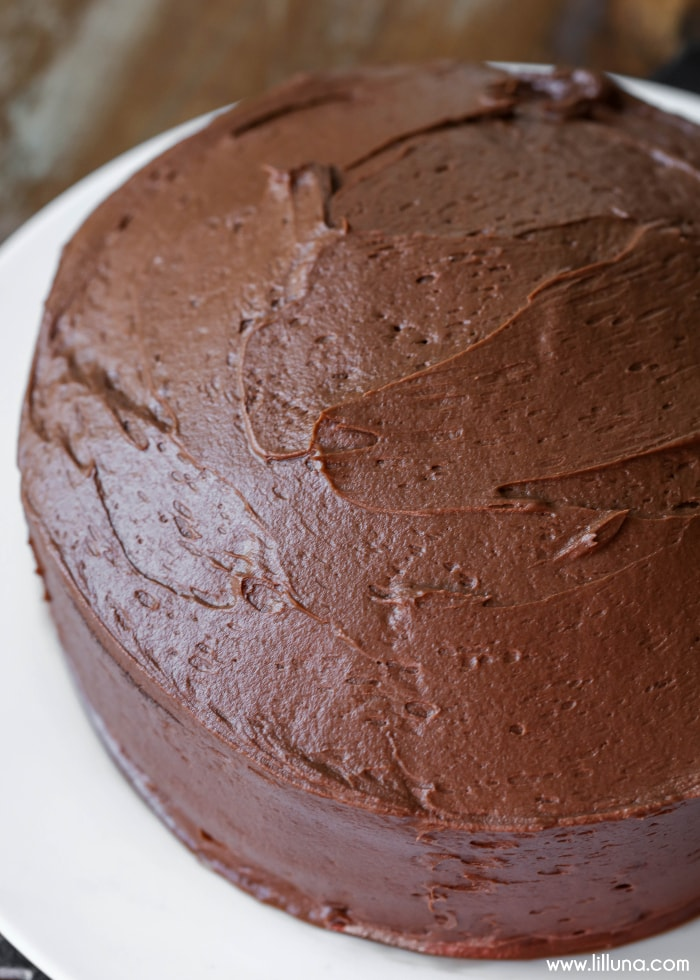 DELICIOUS homemade chocolate buttercream frosting
