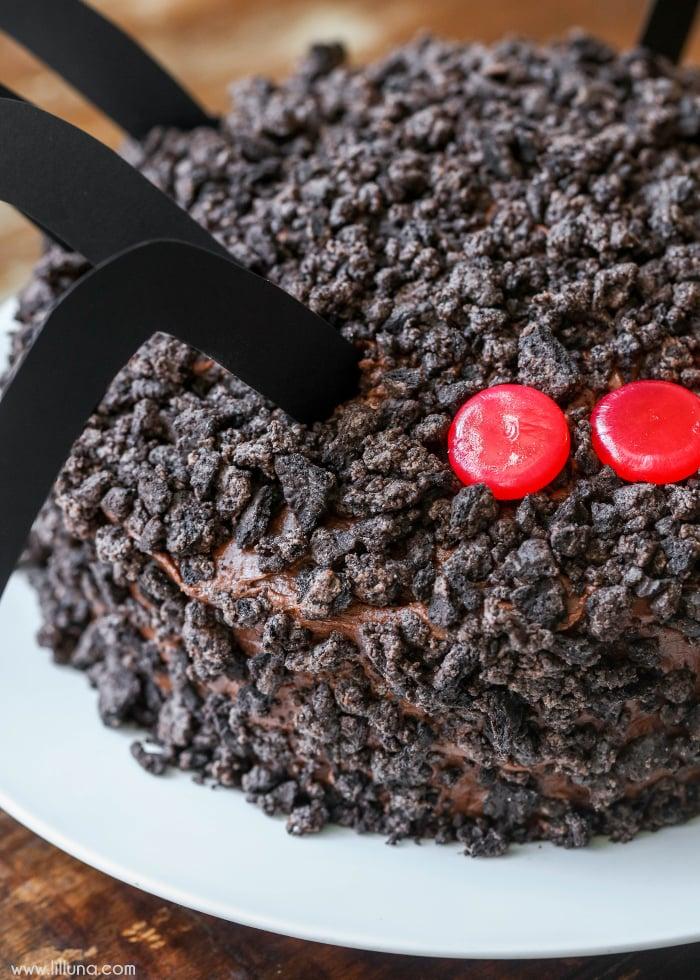chocolate-oreo-spider-cake-4