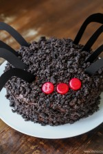 Chocolate Oreo Spider Cake