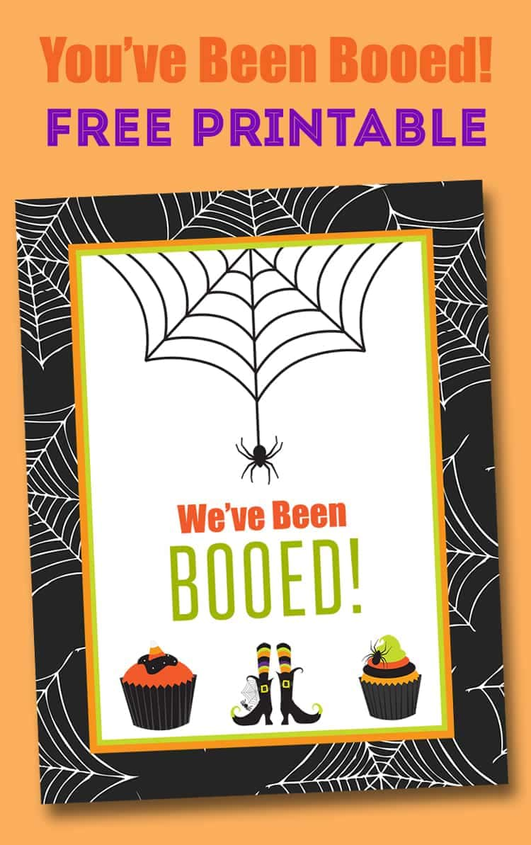 Clever image regarding you ve been booed free printable