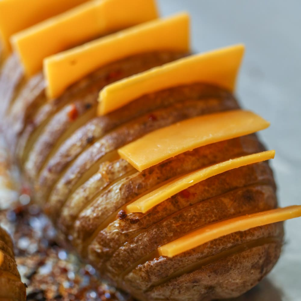 How to make hasselback potatoes process shot