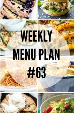 Weekly Menu Plan 63