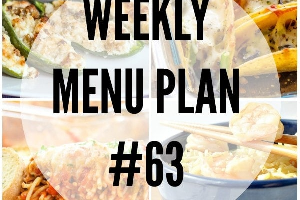 Weekly Menu Plan 63