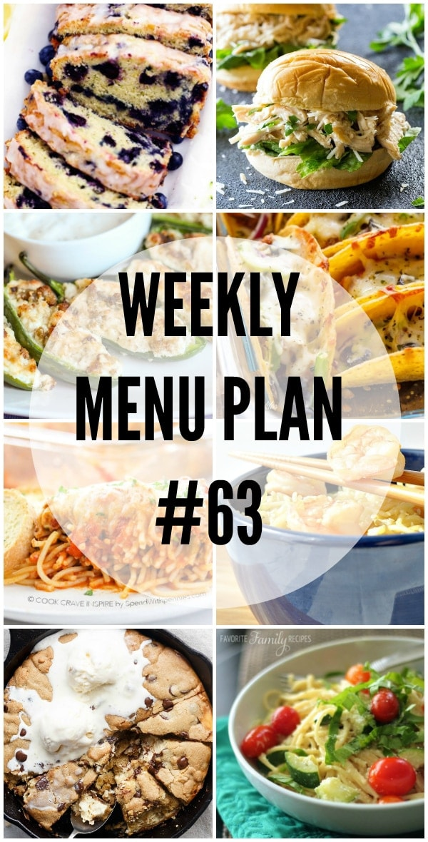 We have gotten together with some of our favorite food bloggers to bring you this custom weekly menu plan. We will all be sharing some of our favorite recip