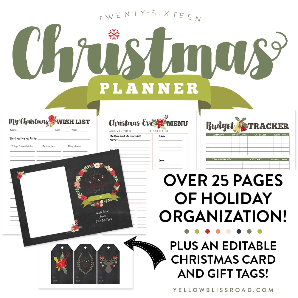 2016 Christmas Planner Sq Graphic