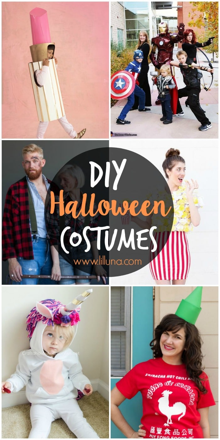 50 diy halloween costume ideas lil luna 50 diy halloween costume ideas including family costumes kids costumes adult costumes solutioingenieria Images