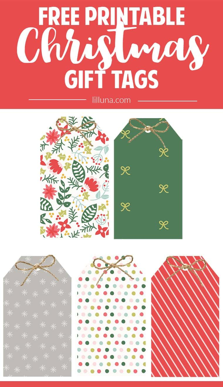 Punchy image for printable christmas gift labels