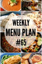 Weekly Menu Plan 65