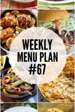 Weekly Menu Plan 67