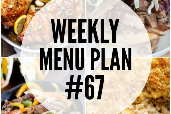 Weekly Menu Plan 67