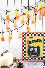 Easy Candy Corn Halloween Banner