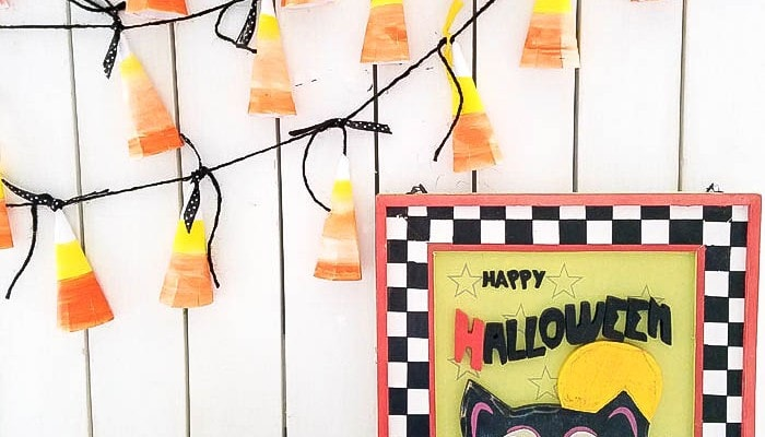 Easy Candy Corn Halloween Banner