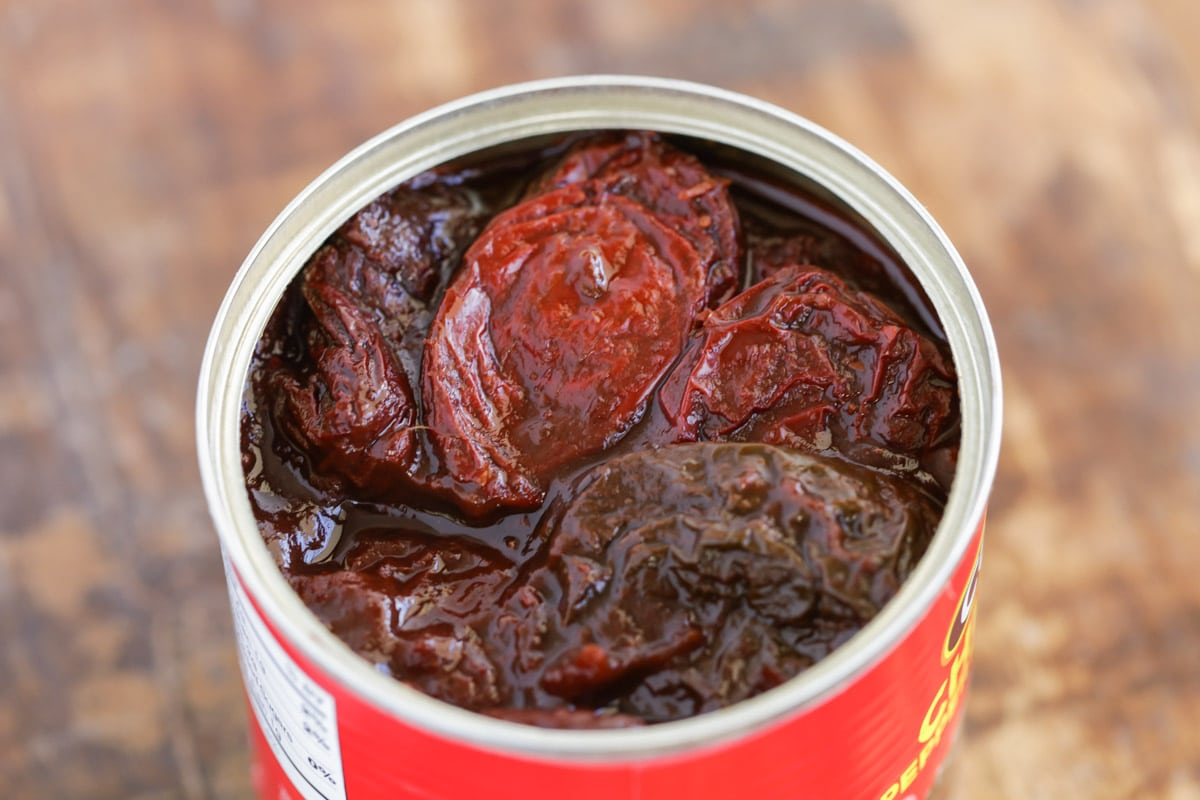 A can of chipotle peppers to make chipotle ranch