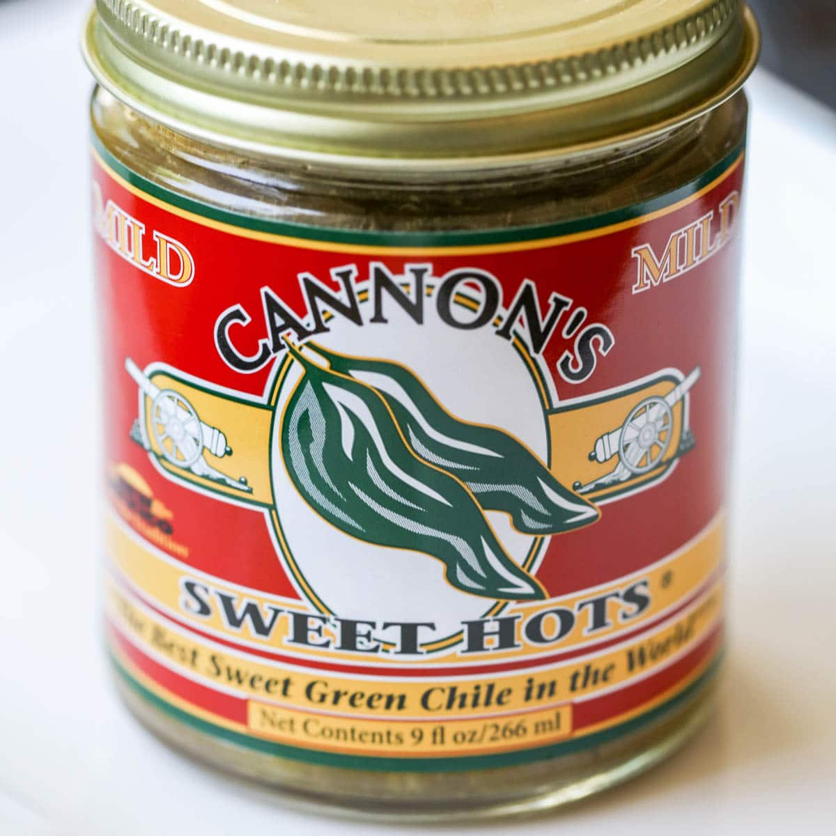 Cannon's sweet green chile in a can
