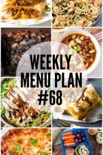 Weekly Menu Plan 68