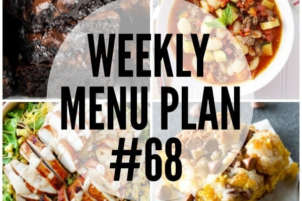 Weekly Menu Plan 68