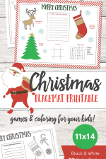Christmas Placemat Printable