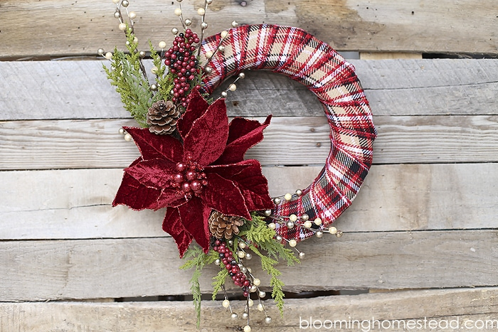 diy elegant christmas wreath by blooming homestead make a beautiful personalized wreath for the - Elegant Christmas Wreaths