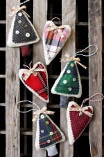 Simple Flannel Ornaments