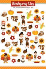 Thanksgiving I Spy Print