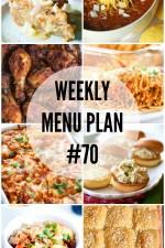 Weekly Menu Plan 70