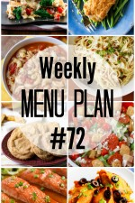 Weekly Menu Plan 72