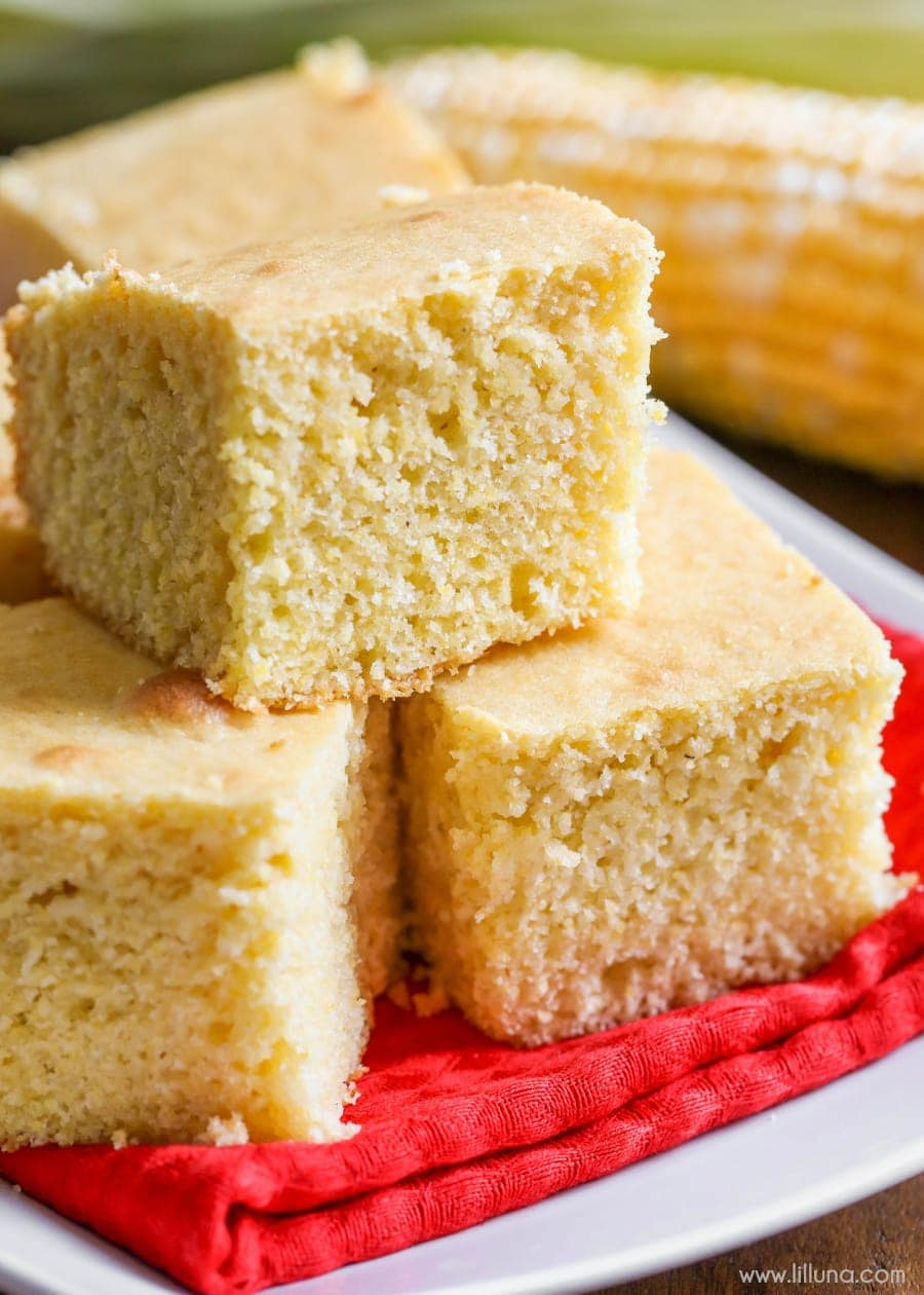Soft and buttery corn bread that melts in your mouth and especially tasty with soups and chili!