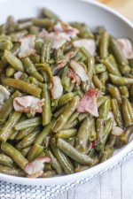 Crock Pot Green Beans with Bacon