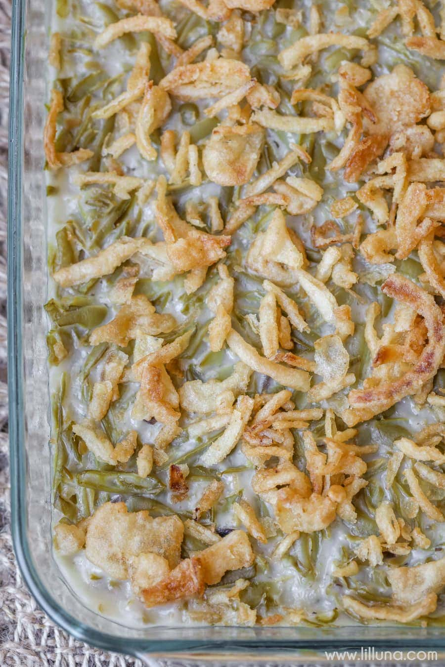 Classic Green Bean Casserole - a classic side dish for holiday meals or any dinner. They're simple, delicious and require only 4 ingredients!