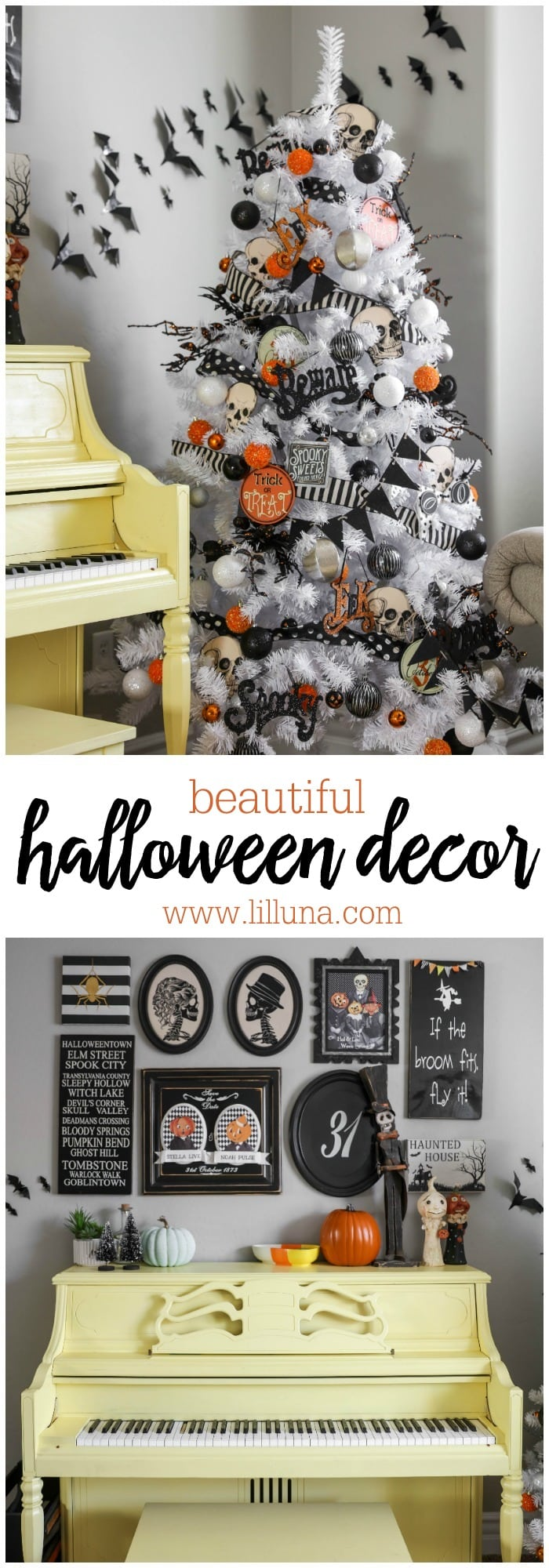 halloween gallery wall decor hallowen walljpg beautiful halloween decor from halloween trees to gallery walls these ideas are awesome