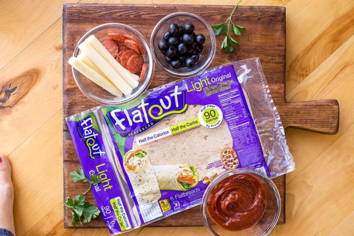 Halloween flatbread ingredients