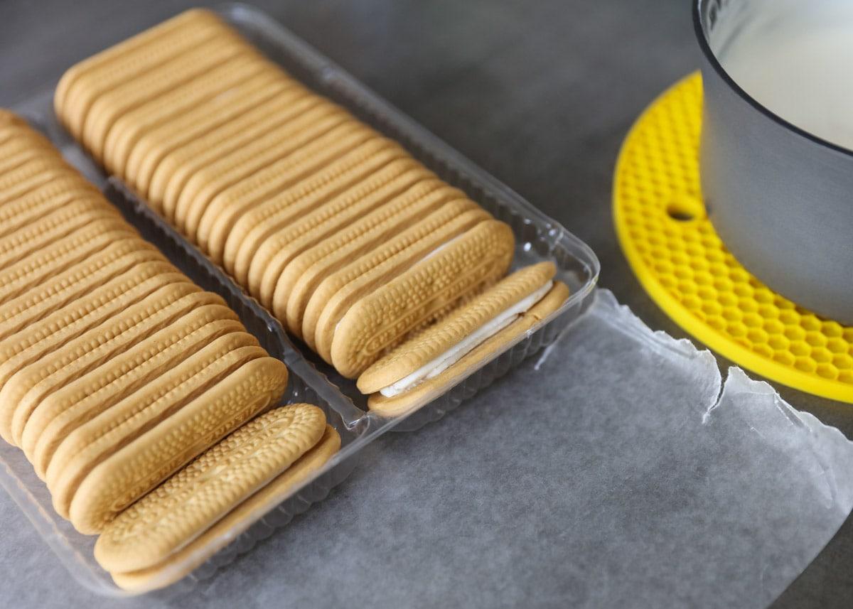 package of vanilla cookies