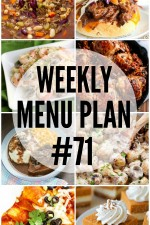Weekly Menu Plan 71