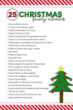 25 Christmas Family Activities