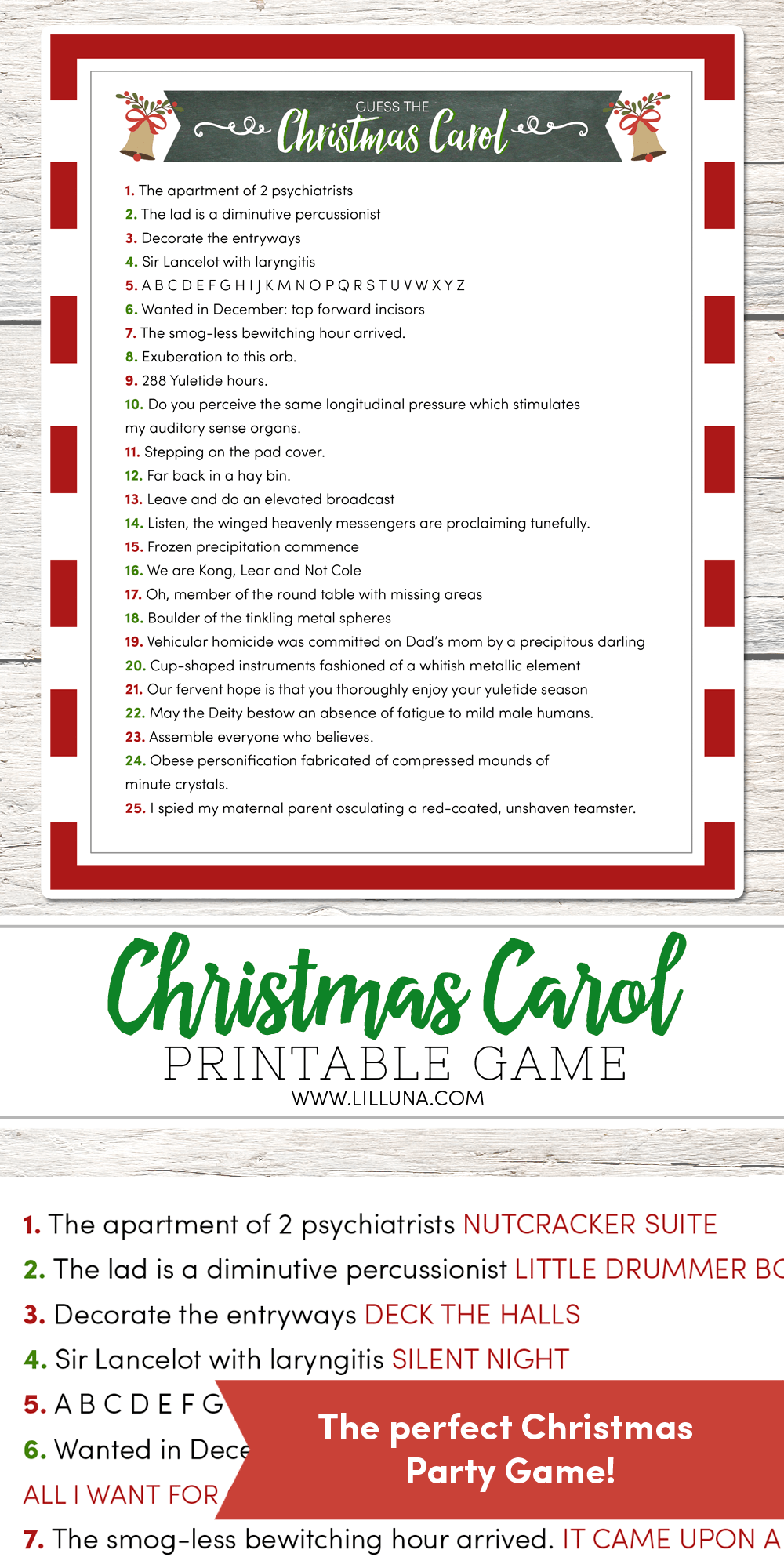 picture regarding Christmas Caroling Songs Printable known as Bet the Xmas Carol Video game - Lil Luna