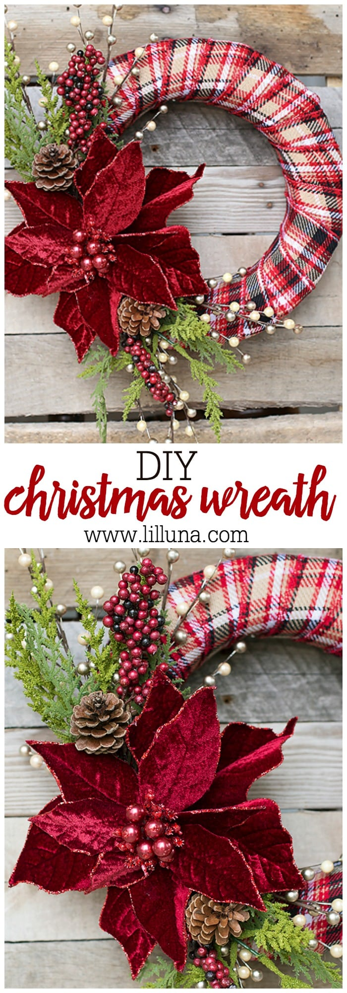 DIY Christmas Wreath - Lil' Luna