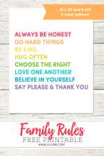 Family House Rules Print + Give Please a Chance