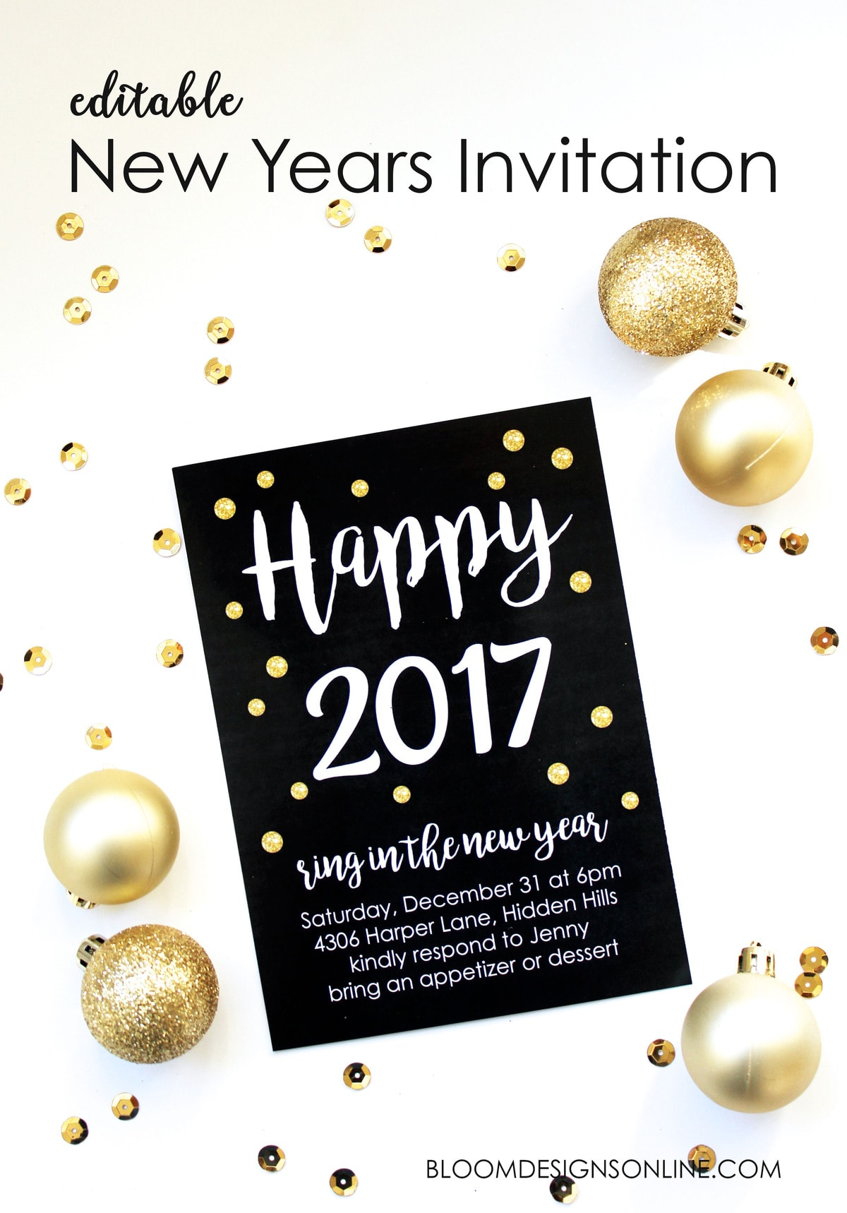 a great party starts with a great invitation use this editable new years invitation to