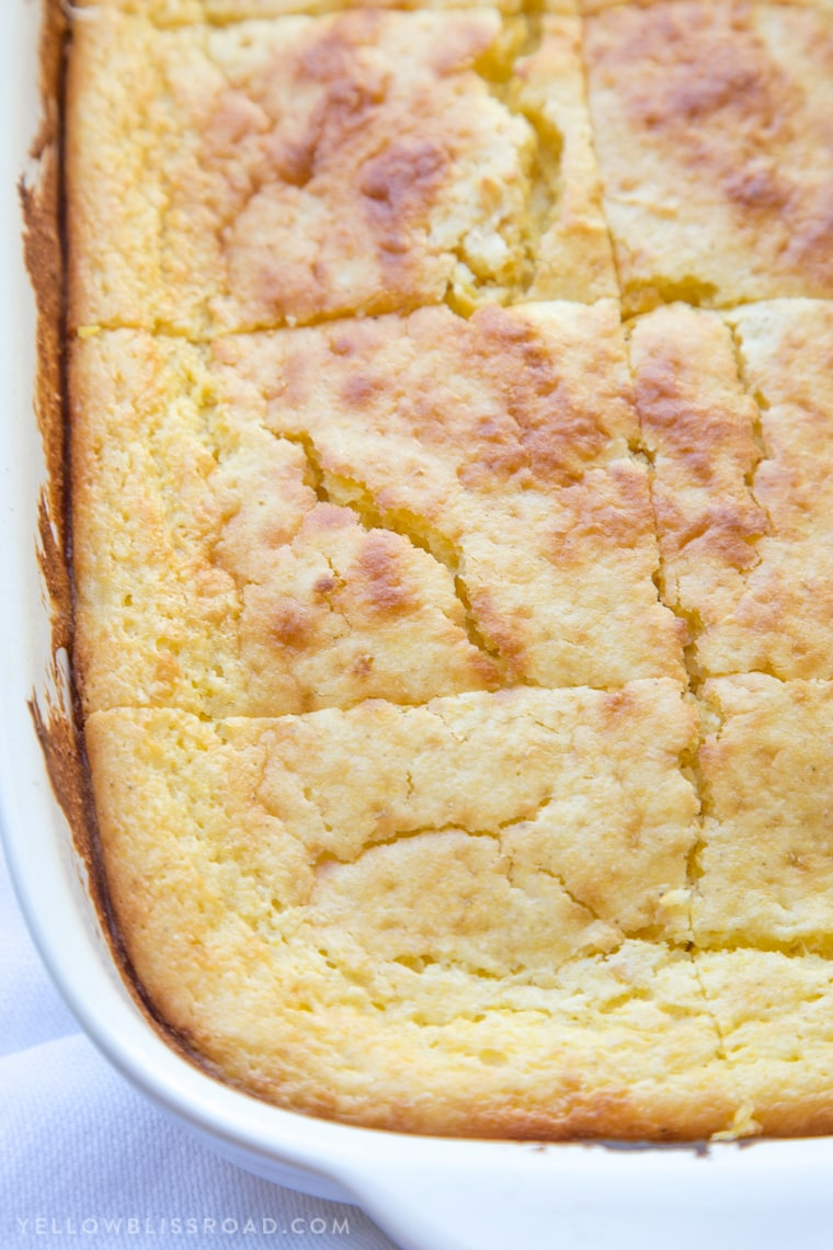This Sour Cream Cornbread Recipe is the perfect accompaniment to your Thanksgiving turkey or your favorite bowl of chili. It's creamy, tender and oh so delicious.