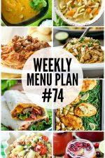 Weekly Menu Plan 74