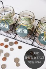 Share Spend Save Piggy Bank + No Baby Unhugged