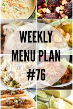 Weekly Menu Plan 76