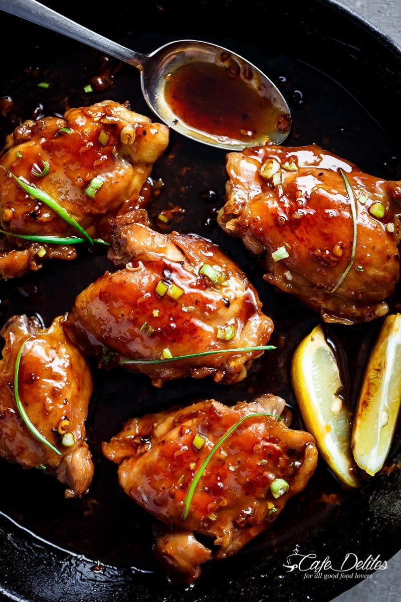 Garlic Teriyaki Chicken Thighs